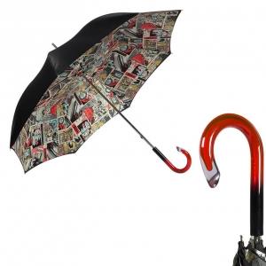 Зонт-трость Pasotti Nero Comics Plastica фото-1