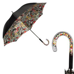 Зонт-трость Pasotti Nero Comics Plastica Multi фото-1