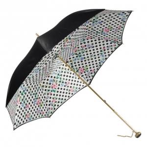 Зонт-трость Pasotti Nero Flower Pois Stone фото-2