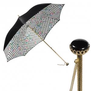 Зонт-трость Pasotti Nero Flower Pois Stone фото-1