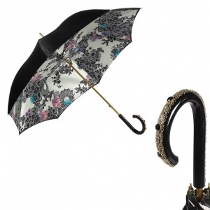 Зонт-трость Pasotti Nero Lace Plastica Fiore фото-1