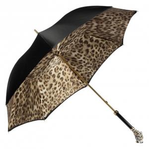 Зонт-трость Pasotti Nero Leoparde Lux фото-2