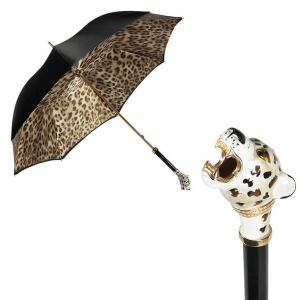 Зонт-трость Pasotti Nero Leoparde Lux фото-1