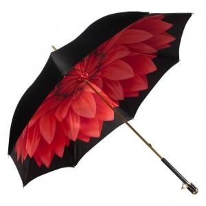 Зонт-трость Pasotti Nero Rosso Georgin Vetro фото-2
