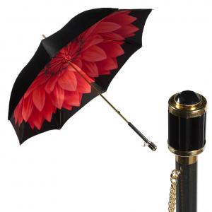 Зонт-трость Pasotti Nero Rosso Georgin Vetro фото-1