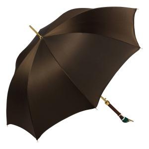 Зонт-трость Pasotti Oxford Marrone Drake Lux фото-2