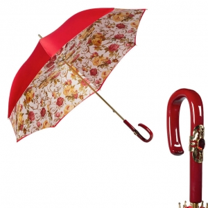 Зонт-трость Pasotti Rosso Roses Plastica Fiore фото-1