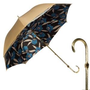 Зонт-трость Pasotti Sand Lis Blu Oro фото-1