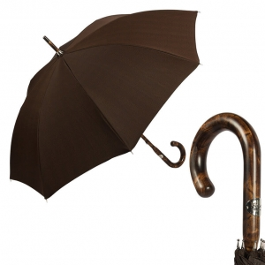 Зонт-трость Pasotti Smocked Hikory Milford Marrone фото-1