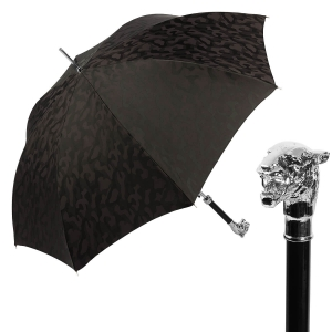 Зонт-трость Pasotti Tiger Silver Divorzi Black фото-1