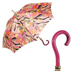 Зонт-трость Pasotti Uno Lumino Coral Strass Fuxia фото-1