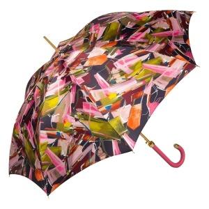 Зонт-трость Pasotti Uno Luminoso Fuxia Classic Pelle фото-2