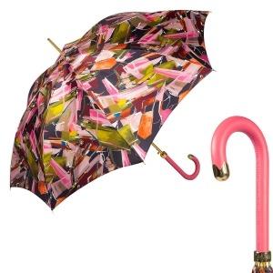 Зонт-трость Pasotti Uno Luminoso Fuxia Classic Pelle фото-1