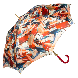 Зонт-трость Pasotti Uno Luminoso Vernis Rosso фото-2