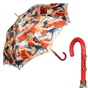 Зонт-трость Pasotti Uno Luminoso Vernis Rosso фото-1