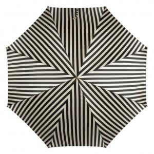 Зонт-трость Pasotti Uno Stripes Nero Beige Legno фото-3