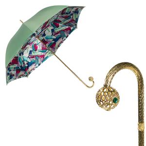 Зонт-трость Pasotti Verde Luminoso Sfera фото-1