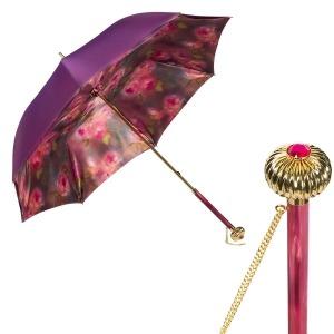 Зонт-трость Pasotti Viola Vivo Globe Fuxia фото-1