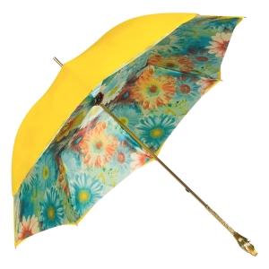 Зонт-трость Pasotti Yellow Gerbera Buton Oro фото-2