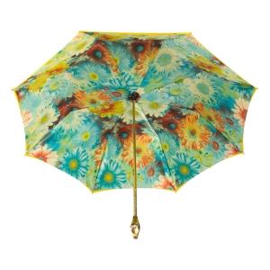 Зонт-трость Pasotti Yellow Gerbera Buton Oro фото-3