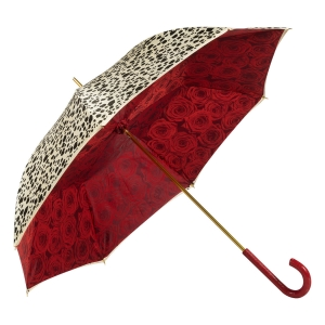 Зонт-трость Pasottti Pantera Rosa Pelle Rosso фото-2