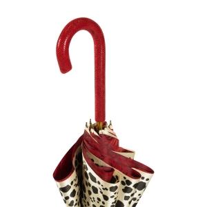 Зонт-трость Pasottti Pantera Rosa Pelle Rosso фото-6