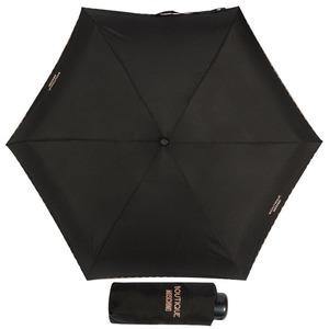Зонт складной Moschino 7000-SuperminiA Embroidery Heart Case Black фото-1