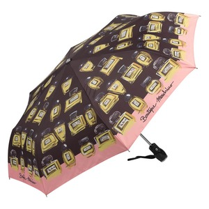 Зонт складной Moschino 7001-OCA Perfumes Black фото-2