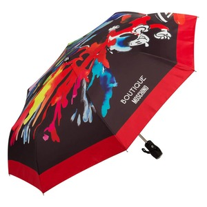 Зонт складной Moschino 7015-OCA Olivia Splash Black фото-2