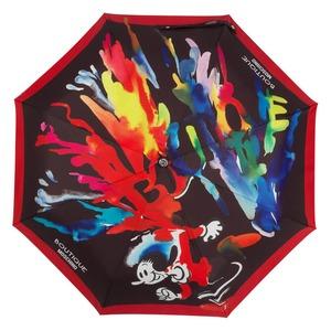 Зонт складной Moschino 7015-OCA Olivia Splash Black фото-3