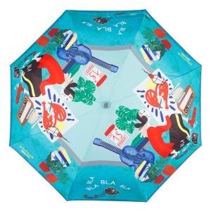 Зонт складной Moschino 7016-OCP Olivia painter Light blue фото-3