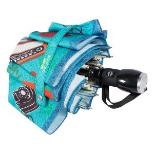 Зонт складной Moschino 7016-OCP Olivia painter Light blue фото-4