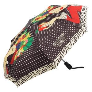 Зонт складной Moschino 7032-OCA Olivia Fruit Hat Black фото-2