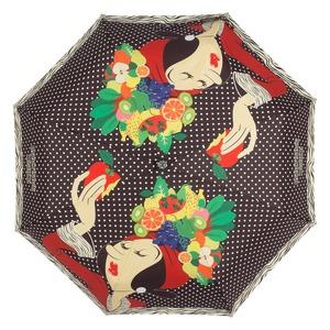 Зонт складной Moschino 7032-OCA Olivia Fruit Hat Black фото-3