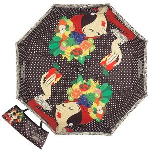 Зонт складной Moschino 7032-OCA Olivia Fruit Hat Black фото-1