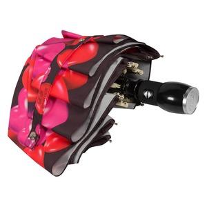 Зонт складной Moschino 7275-OCA Rubber Heart Black фото-4