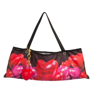 Зонт складной Moschino 7275-OCA Rubber Heart Black фото-5