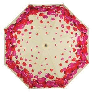 Зонт складной Moschino 7275-OCI Rubber Heart Beige фото-3