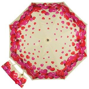 Зонт складной Moschino 7275-OCI Rubber Heart Beige фото-1