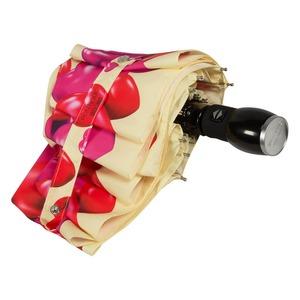 Зонт складной Moschino 7275-OCI Rubber Heart Beige фото-4