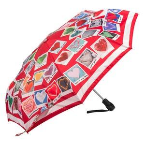 Зонт складной Moschino 7300-OCC Heart Polaroids Red фото-2