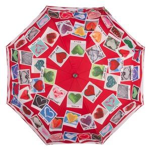 Зонт складной Moschino 7300-OCC Heart Polaroids Red фото-3