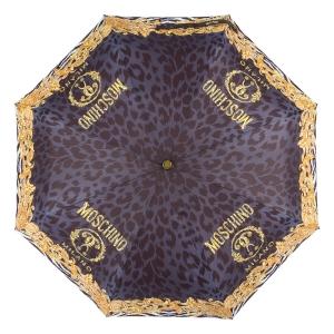 Зонт складной Moschino 8009-OCA Logo animalier Black фото-3