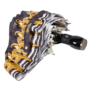 Зонт складной Moschino 8009-OCA Logo animalier Black фото-4