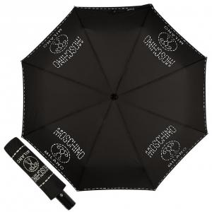 Зонт складной Moschino 8012-OCA Stitches Black фото-1