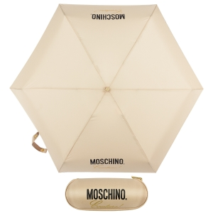Зонт складной Moschino 8014-superminiD Couture! Dark Beige фото-1