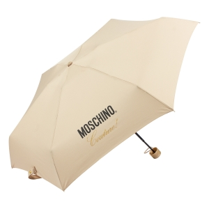 Зонт складной Moschino 8014-superminiD Couture! Dark Beige фото-2