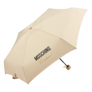 Зонт складной Moschino 8014-superminiD Couture! Dark Beige фото-3
