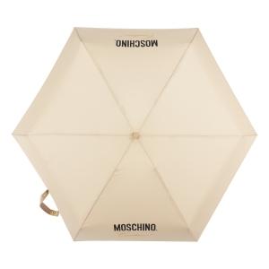 Зонт складной Moschino 8014-superminiD Couture! Dark Beige фото-2