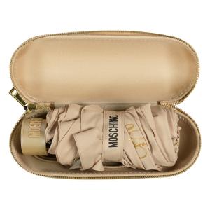 Зонт складной Moschino 8014-superminiD Couture! Dark Beige фото-4